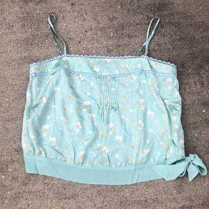 GAP silk cropped cami